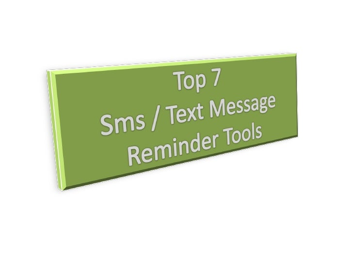 Why use SMS Reminders? • Remind customers of their appointments • No more waiting for clients who forget their   appointme...