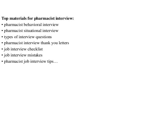 top 15 pharmacist interview questions and answers pdf