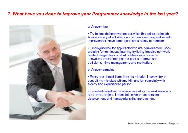 Top 7 programmer interview questions answers