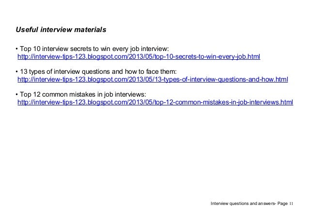 11 useful interview - Analyst Interview Tips Questions Answers