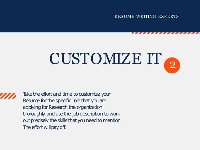 tips for creating a resumes