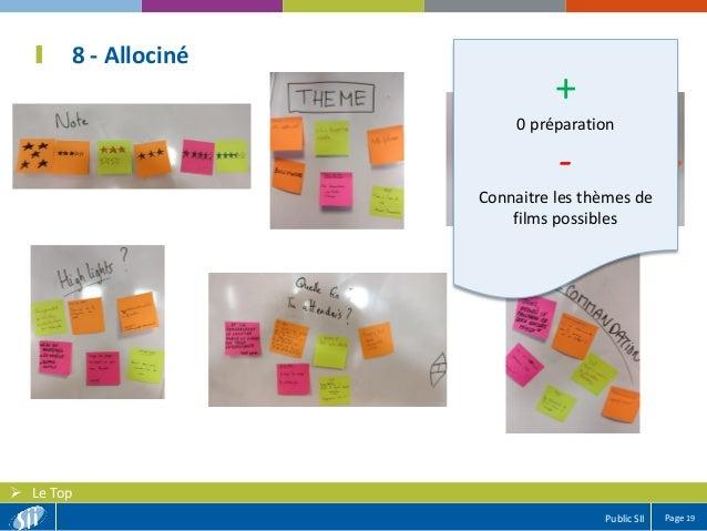 Page 19Public SII  Le Top 8 - Allociné + 0 préparation - Connaitre les thèmes de films possibles