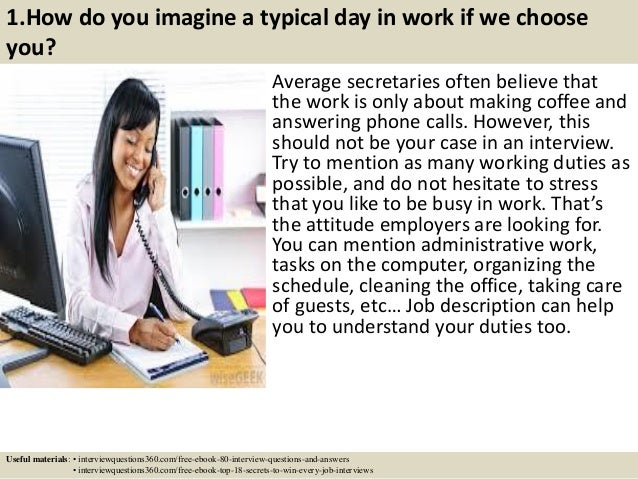 Top 15 secretary interview questions and answers pdf