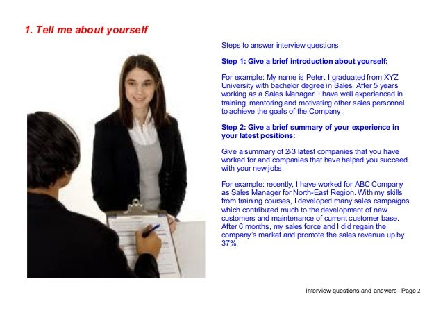 brief introduction of yourself in interview example