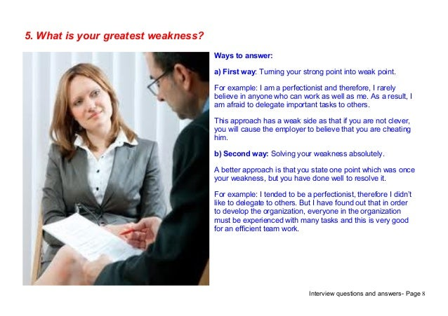 work related weaknesses examples
