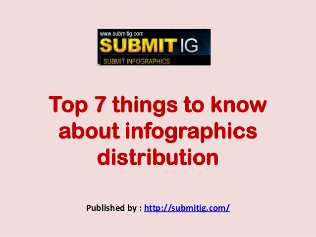 Top 7 things to knowabout infographicsdistributionPublished by : http://submitig.com/