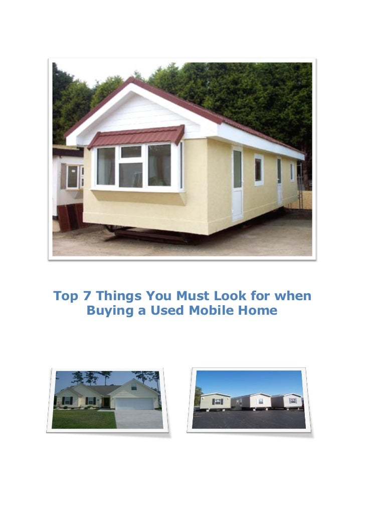 Mobile Homes... What to Look for