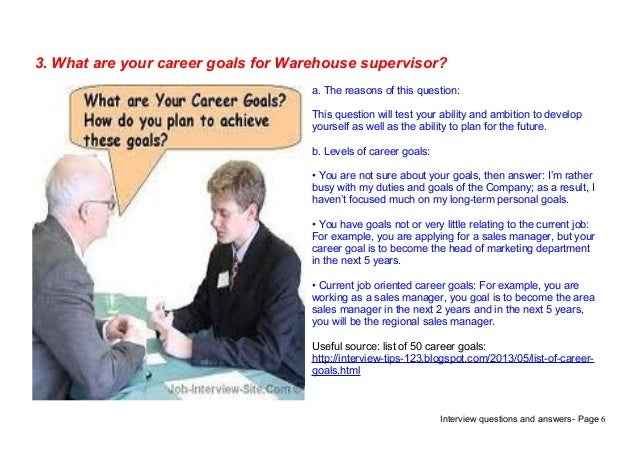 top 7 warehouse supervisor interview questions answers