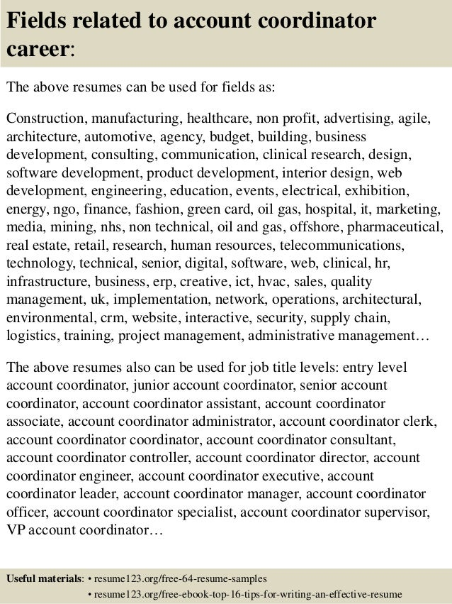 Account Coordinator Resume Cover Letter. accounts receivable ...