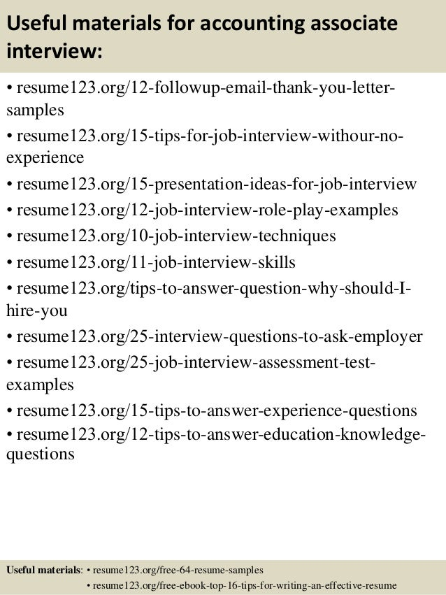 Top 8 accounting associate resume samples