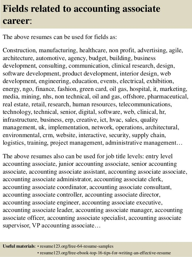 16 Fields Related To Accounting Associate