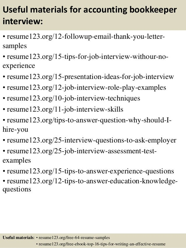 sample bookkeeper resumes free sample resumes for