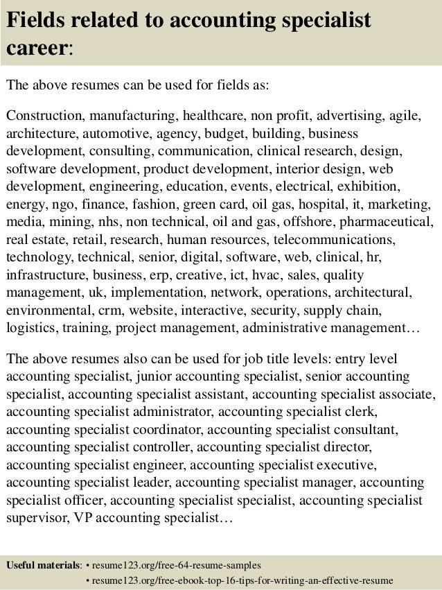 Senior Accounts Payable Specialist Resume. accounts resume samples ...