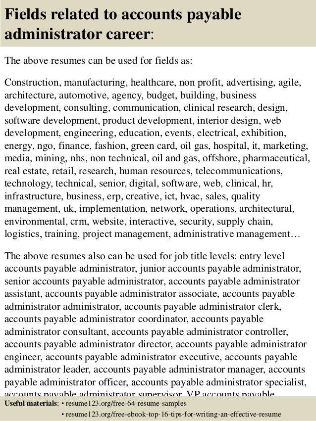 accounts payable resume examples