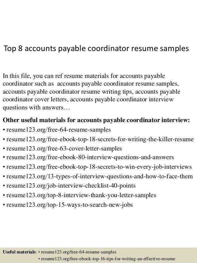 sample resume accounts payable