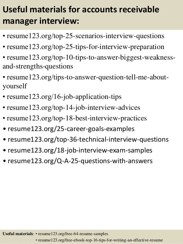 top 8 accounts receivable manager resume samples