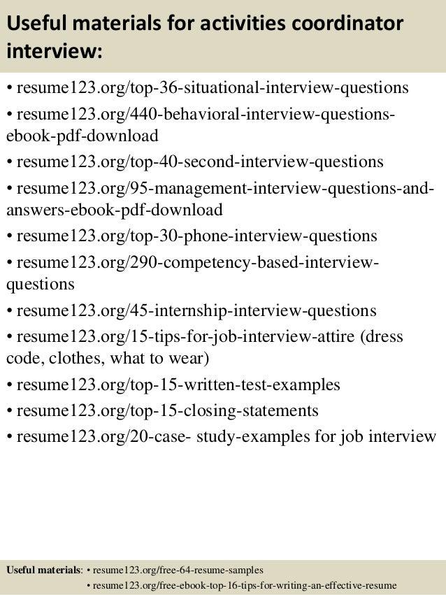 12 Useful Materials For Activities Coordinator