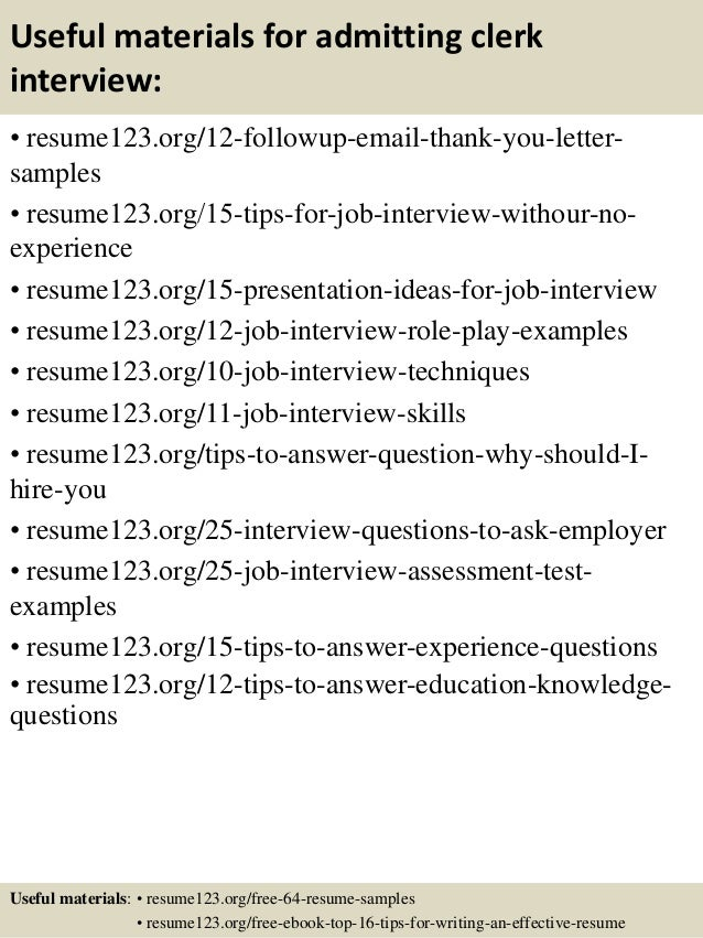 top 8 admitting clerk resume samples awesome collection of admitting ...