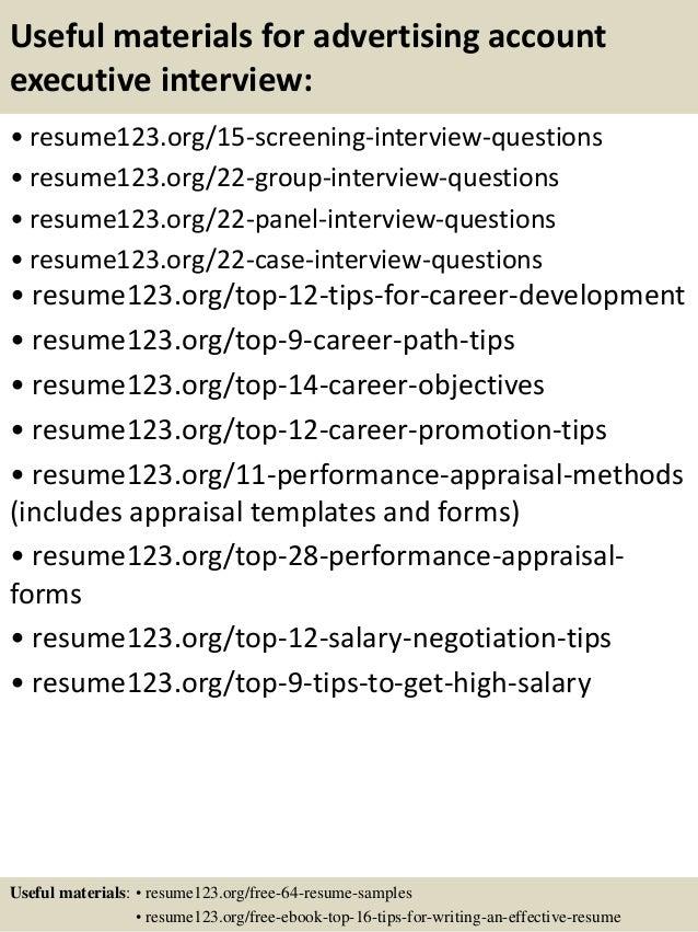 account executive resume templates