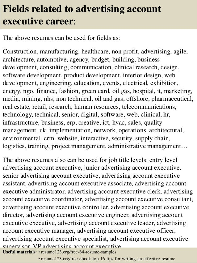 16 Fields Related To Advertising Account Executive