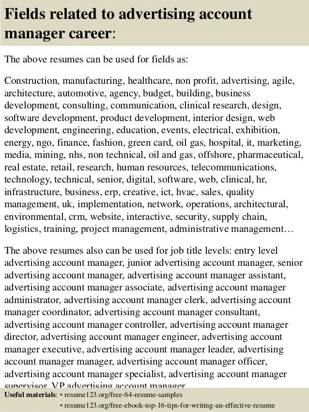 how to become an account manager in advertising