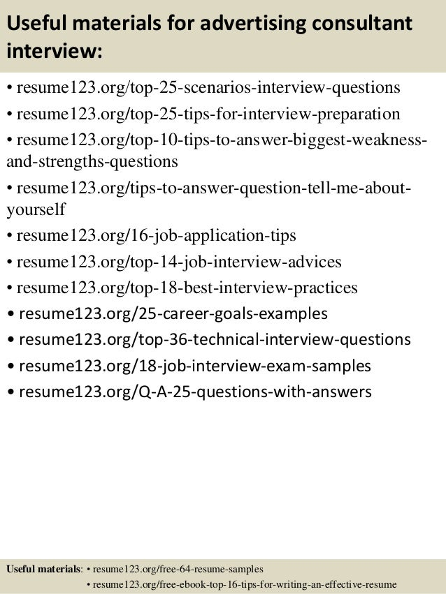 Top 8 advertising consultant resume samples
