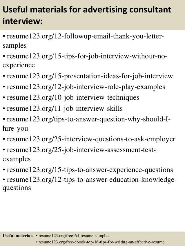 advertising consultant resumes