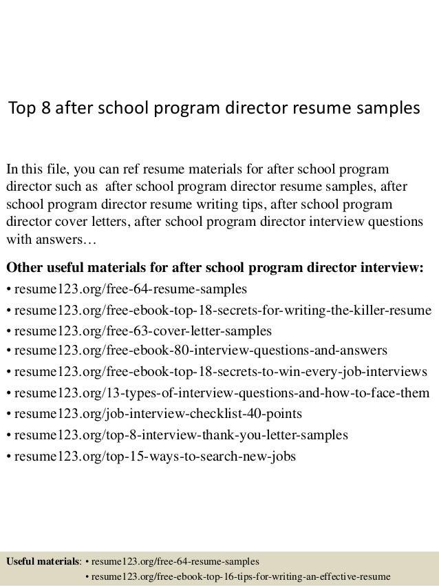 top8afterschoolprogramdirectorresumesamples1638jpgcb1431331055