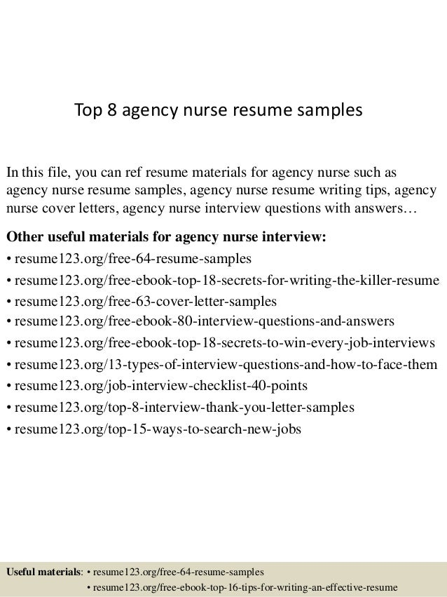 registered nurse sample resume