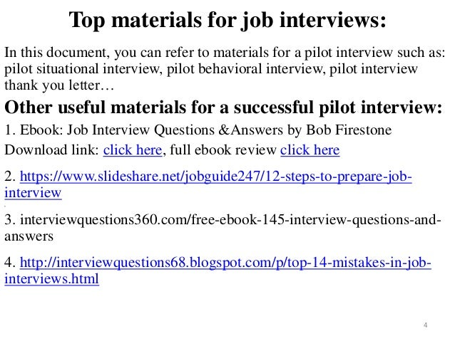 100 pilot interview questions and answers