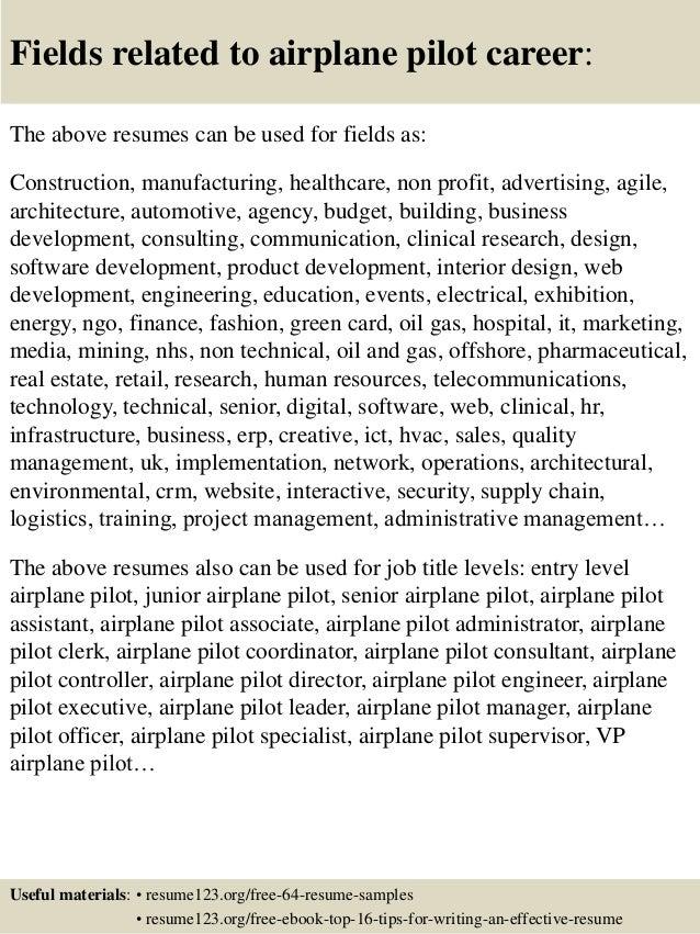 16 - Sample Pilot Resume