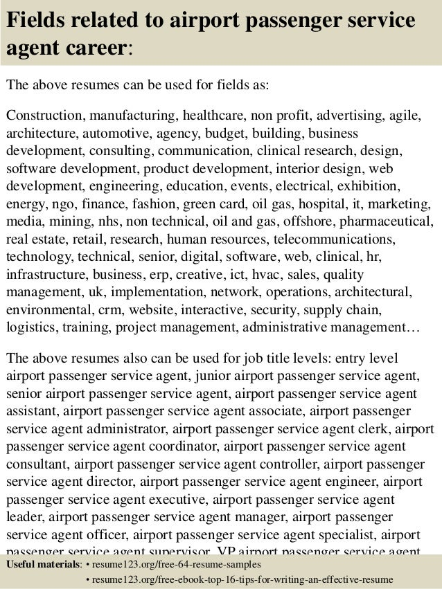 resume of a guest service agent