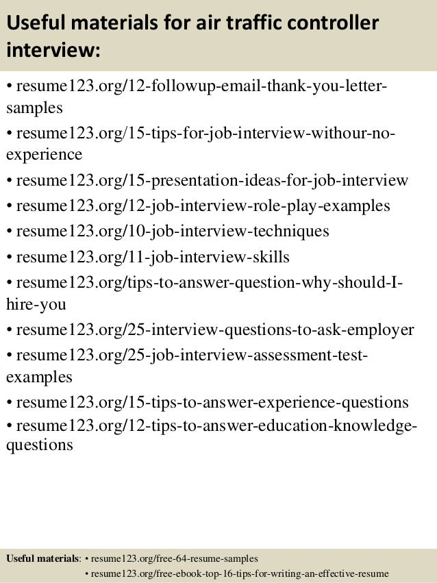 top 8 air traffic controller resume samples