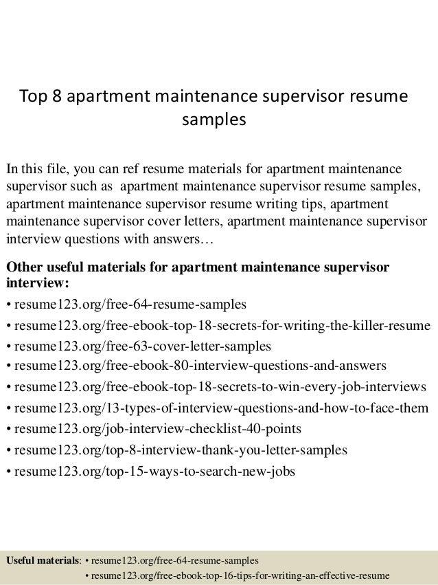 Apartment maintenance jobs