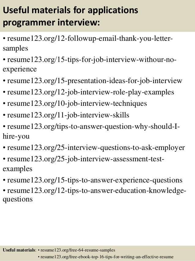 top 8 applications programmer resume samples it senior applications programmer resume - Senior Applications Programmer Resume