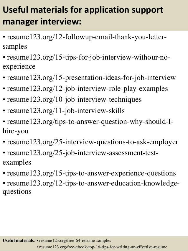 Application Support Job Resume. application engineer job scope ...