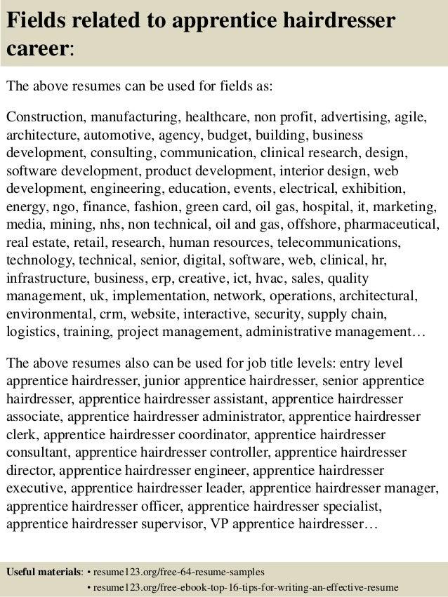 hairdresser resume