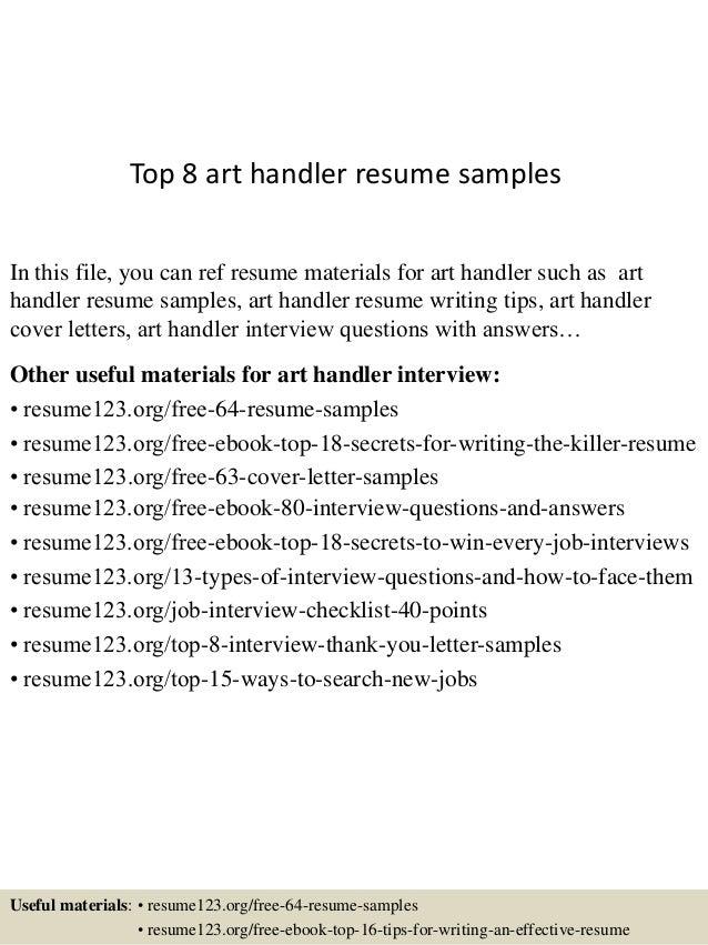 top 8 art handler resume samples 1 638 jpg cb 1433154125