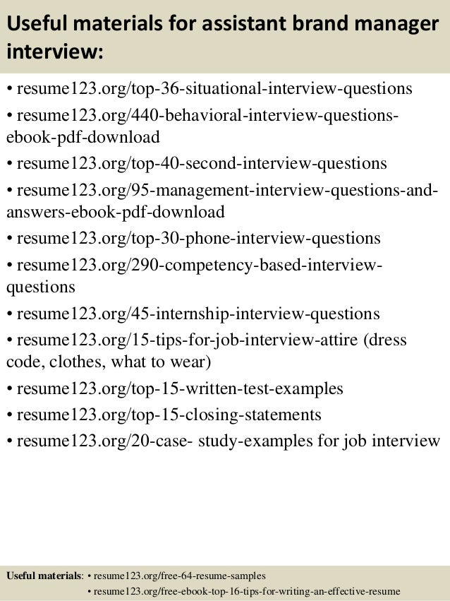 brand assistant sample resume assistant brand manager resume