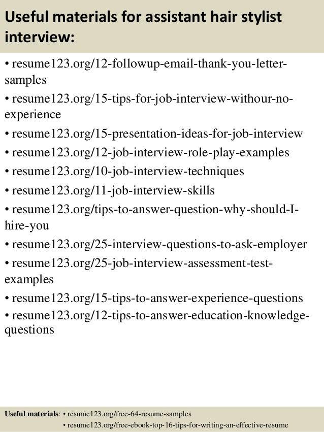 Resume For Hairdressers Examples   Hairdresser Resume
