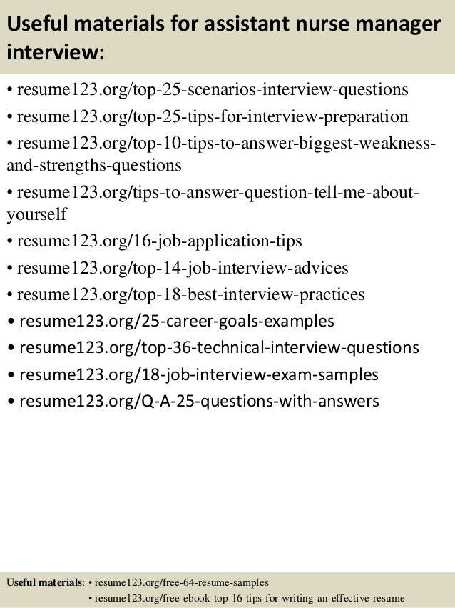Top 8 assistant nurse manager resume samples – Nurse Manager Resume Examples