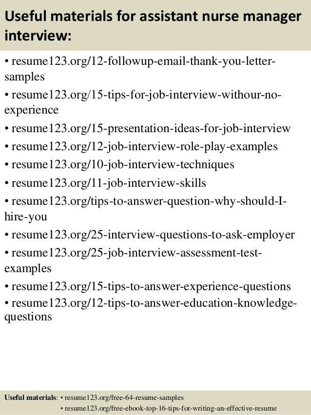 Top 8 Assistant Nurse Manager Resume Samples