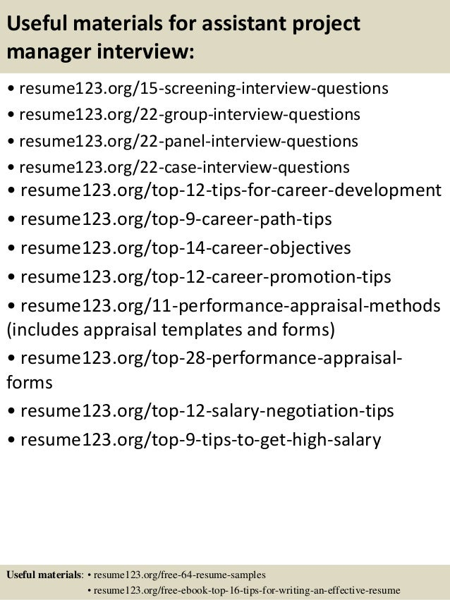 Assistant Project Manager Resume Examples. pmp resume example ...