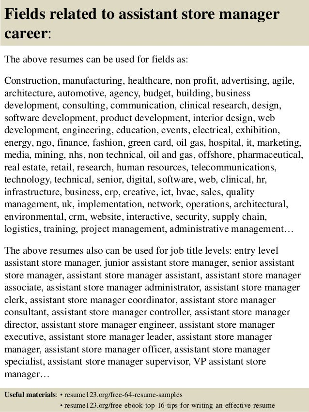 manager resume retail sample store – Store Manager Resume Example