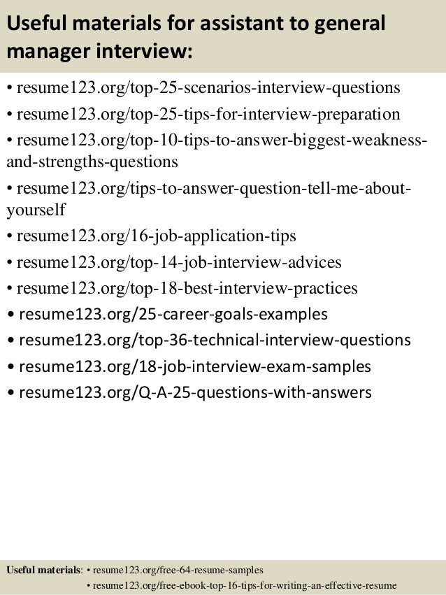 Top 8 assistant to general manager resume samples 13 useful materials for assistant to general manager fandeluxe PDF