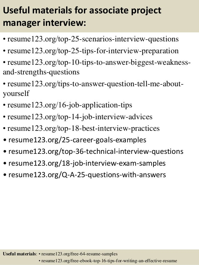 ... 13. Useful Materials For Associate Project Manager ...  Associate Project Manager Resume