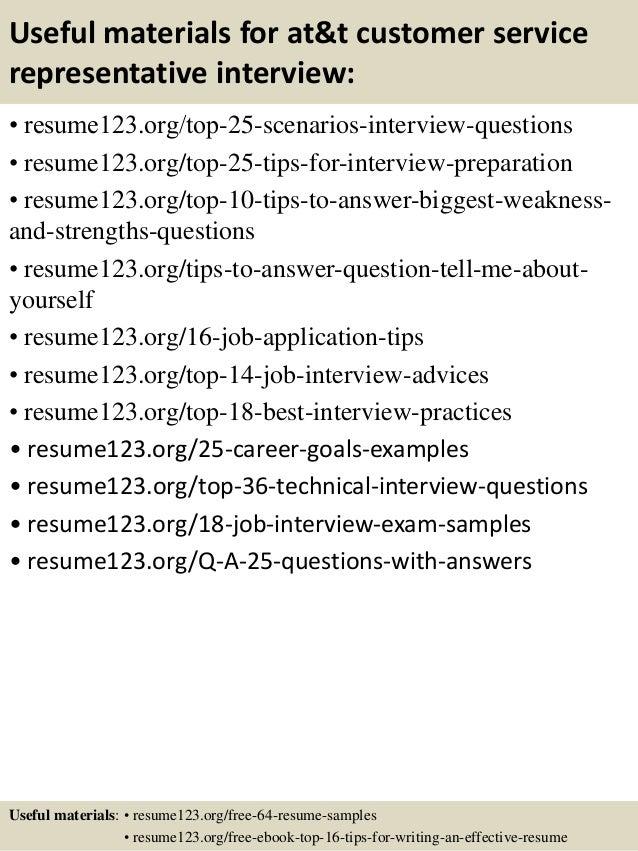 Top 8 att customer service representative resume samples