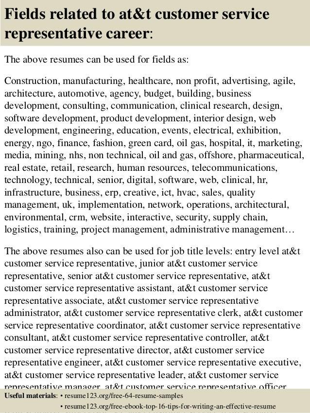 At T Customer Service Resumes   Customer Service Resumes Samples