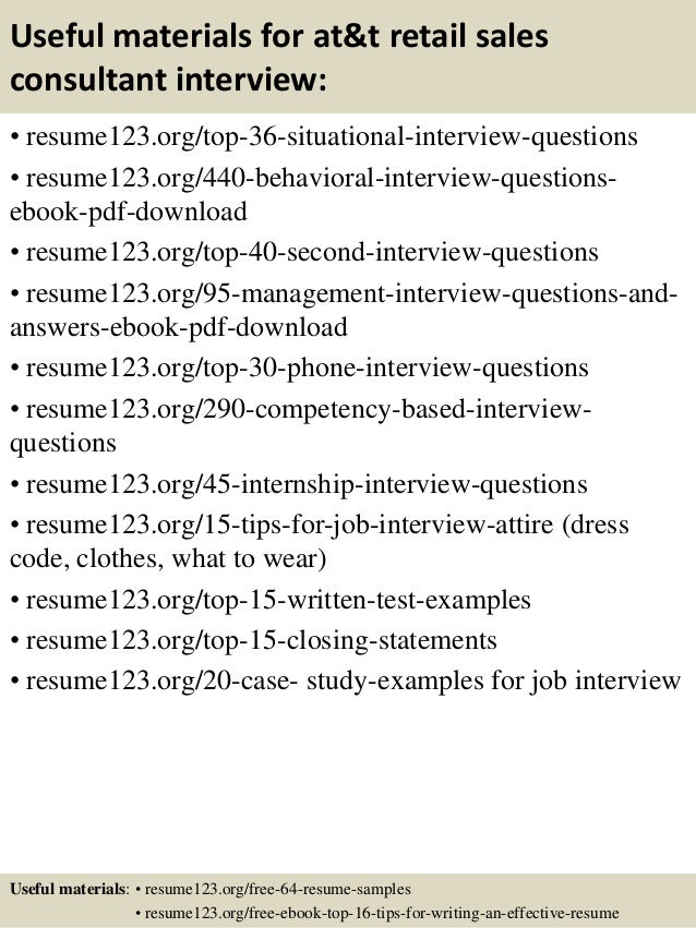 Top 8 att retail sales consultant resume samples