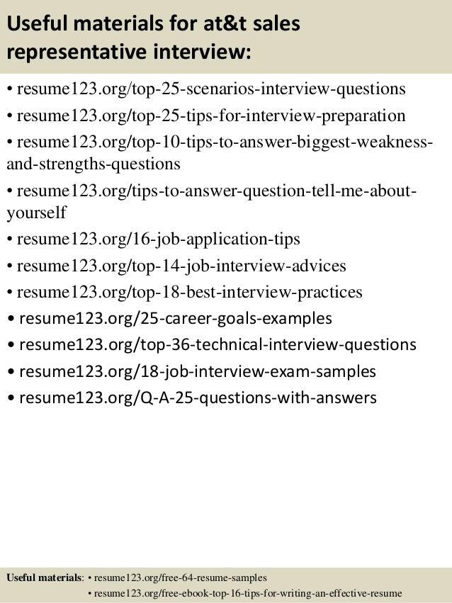 13 useful materials for att sales representative - Retail Sales Representative Resume